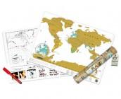 Scratch Map personnalisée carte du monde